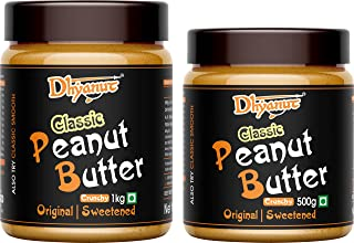 Dhyanut Classic Peanut Butter Crunchy | Made with Roasted Peanuts | 1.5 Kg