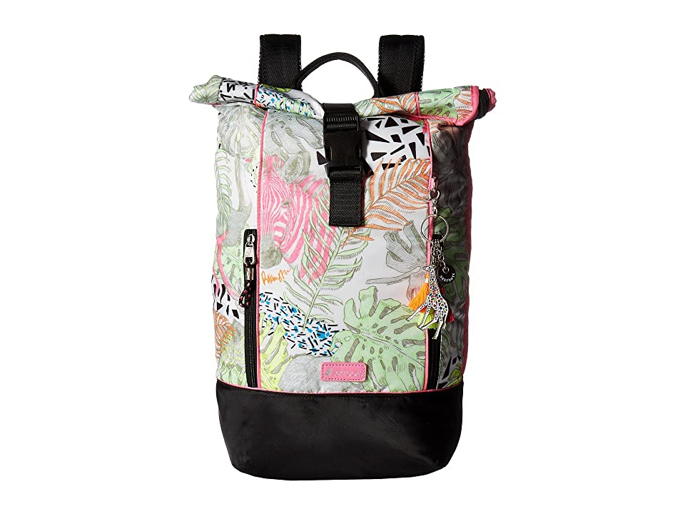 Sakroots Artist Circle Roll Top Backpack (Neon Wild Life) Backpack Bags