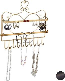 88 Fori per Orecchini Relaxdays Albero Portagioie Design Vintage in Ferro 1 pz 3 Ciotole Portaoggetti per Anelli Argento