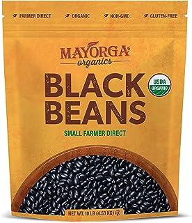 Organic Dry Black Beans by Mayorga, USDA Organic Certified, Gluten-Free, Non-GMO Verified, Direct Trade, Ko...