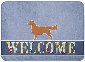 Caroline's Treasures BB5508RUG Golden Retriever Welcome Floor Mat, 19 x 27, Multicolor