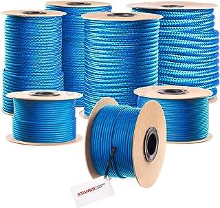 Seilwerk STANKE PP Seil Polypropylen Seil geflochten 50m 16mm BLAU Schnur Flechtleine Sprungseil Reepschnur