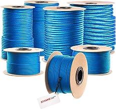 Seilwerk STANKE gevochten touw van polypropyleen BLAUW zeilen touw, koord - 16mm, 200m
