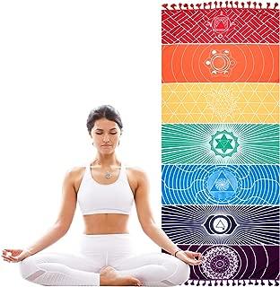 KATELUO Chakras,Tapiz,Manta Yoga,Toalla Yoga para Hogar