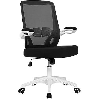 Yaheetech Chaise de Bureau à Roulettes avec Accoudoirs