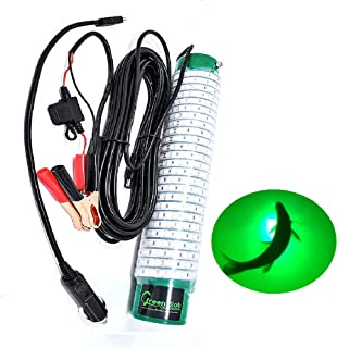 Green Blob Outdoors Fishing Light with Alligator Clips and Cigarette Lighter Plug, Green