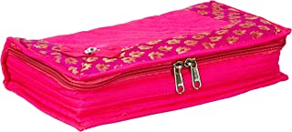 Amazon Brand - Solimo Quilted Jewellery Kit, Pink