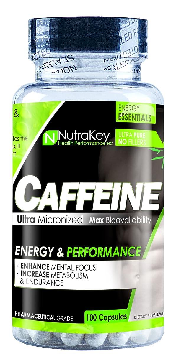 固体快いクリープCAFFEINE 200mg 100 CAPS by Nutrakey