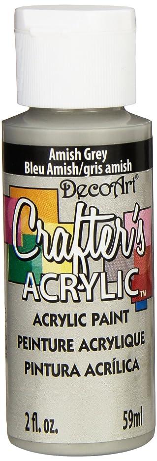 DecoArt Crafter's Acrylic Paint, 2-Ounce, Amish Grey
