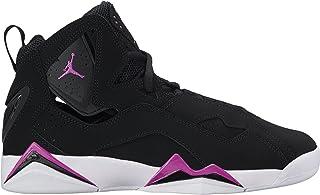 Jordan Kids True Flight GG 黑色紫红色爆发白色尺码 6.5