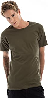 SpectraUSA Short Sleeve Cotton Basic T-Shirt Top for Men and Women