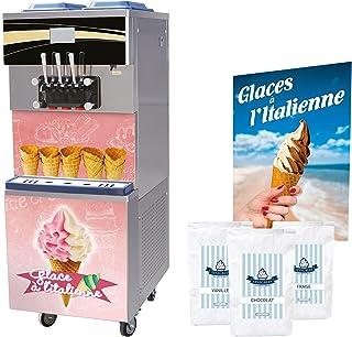 Pack Glace à l'Italienne Machine Professionnelle 25l/h avec Mix à Glace et Accessoires