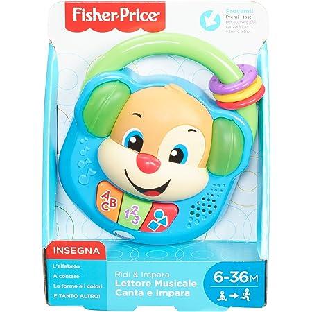 Fisher-Price- Lettore Musicale Canta e Impara-Giocattolo Elettronico Ridi 6-36 Mesi, FPV06