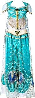 【ミドリ屋】ジャスミン アラジン 姫様 孔雀風 豪華 衣装 コスプレ用衣装 コスプレ コスプレ衣装 コスチューム 高級 cosplay 女性S