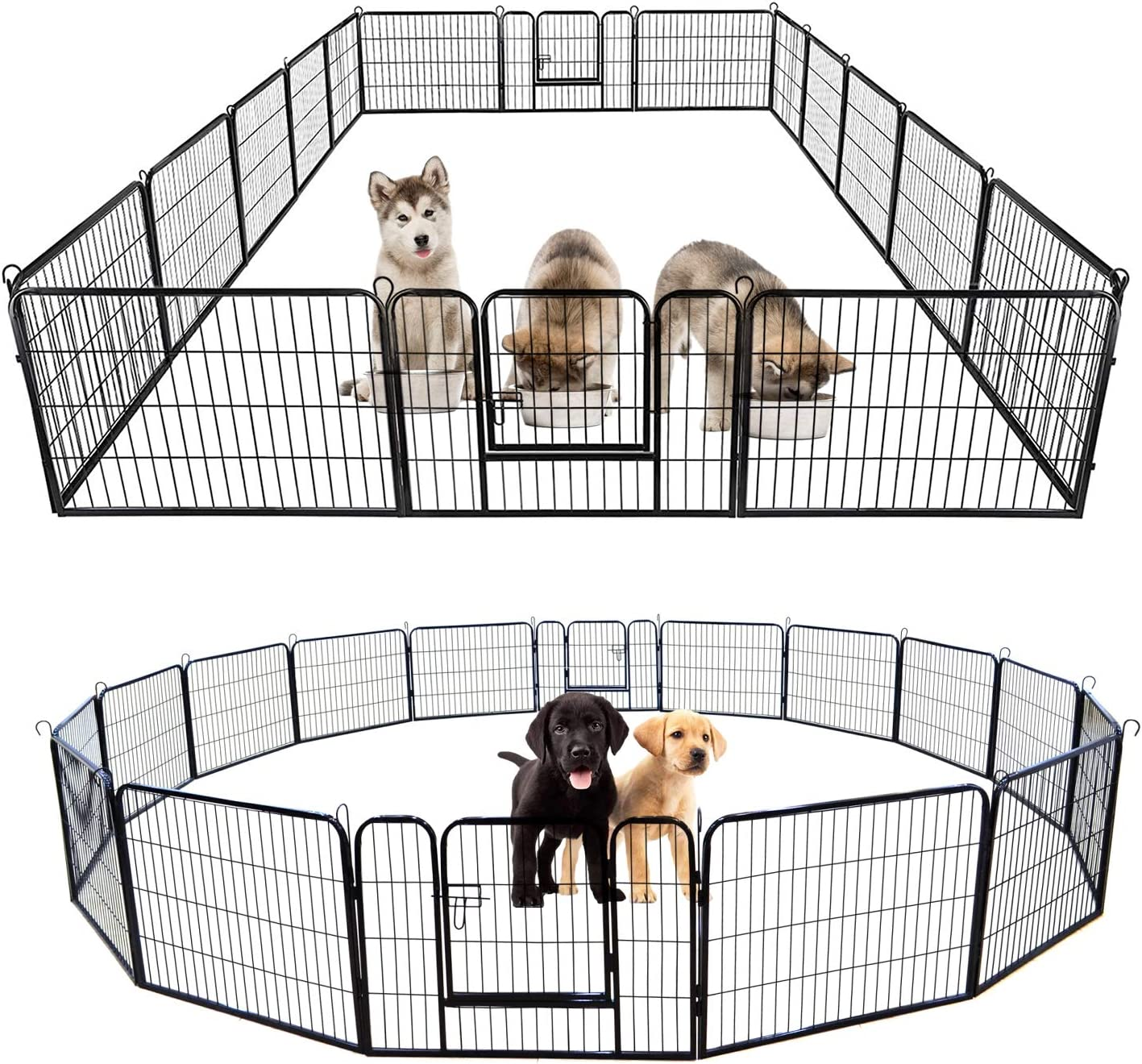 jeerbly Dog Playpen Indoor Outdoor Extra Exercis Panel Max 55% OFF Ranking TOP7 Large 16
