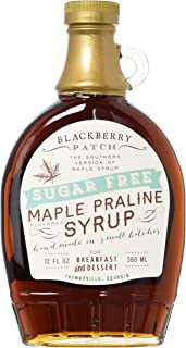 BLACKBERRY PATCH Sugar Free Maple Praline Syrup, 12 Ounce