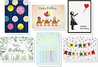 Smashing Bumpkins Happy Birthday Greeting Cards, Eco-Friendly Paper, Pack of 6 (size 5x7 inches) - Birthday Card Designs i...