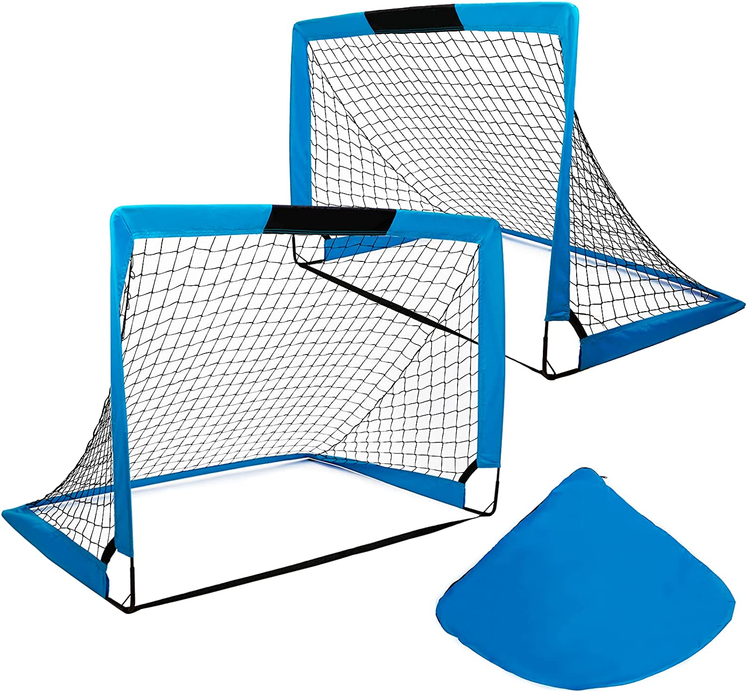 Portable Foldable Soccer Goals Set of with Carry 4'x3' B 5 Charlotte Mall popular Size 2-