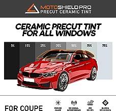 MotoShield Pro Precut Ceramic Tint Film [Blocks Up to 99% of UV/IRR Rays] Window Tint for Coupes - All Windows, Any Tint Shade