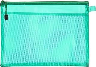 Apple 756A H102 Plastic Zipper File, A4 Size - Green