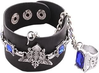 Punk Cosplay Anime Kuroshitsuji Fashion Eagle Mark Bracelet Sapphire Ring Charms HOT Black