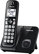 Panasonic Expandable Cordless Phone System with Call Block and High Contrast Displays and Keypads - 1 Cordless Handset - KX-TGD510B (Black)