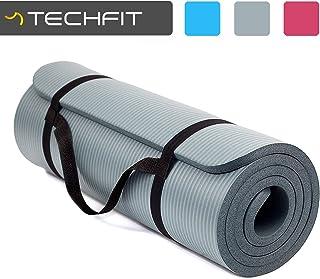 TechFit Colchón para Yoga y Fitness, Espesor Extra, 180 x 60 cm, Ideal para Ejercicios en el Suelo, Gimnasia, Camping, Estiramientos, Abdómenes, Pilates
