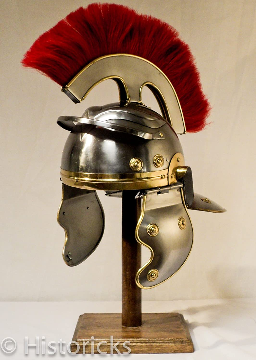 Roman Centurion Helmet (with thick red plume)