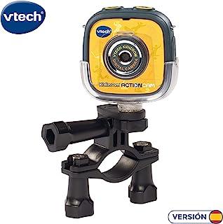 VTech- Kidizoom Action CAM Cámara de Fotos y Vídeos Color Negro/Amarillo 28.7 x 20.1 x 8.1 (3480-170722)