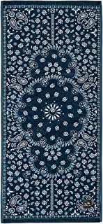 Slowtide - Fitness Towel | 100% Cotton Velour - Hanging Loop - 31 x 13 Inches (Paisley Park)