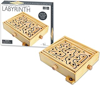 New Entertainment Wooden Labyrinth Game (1 Player)