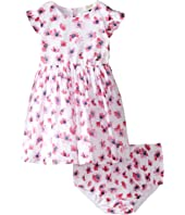 Armani Junior - Floral Printed Cotton with Bloomer (Infant)