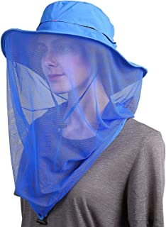 Aptech Mosquito Head Net Hat, Sun Hat Bucket Hat with Hidden Net Mesh Protection from Insect Bug Bee Mosquito Gnats for Ou...