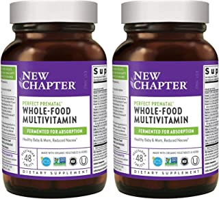 New Chapter Perfect Prenatal Multi Vitamin Made with Organic Vegetables and Herbs for Before and Throughout Pregnancy (48 Vegetarian Tablets) Pack of 2