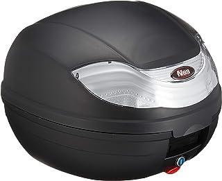 バイクパーツセンター リアボックス32L 着脱可能式 取っ手付き ブラック/ホワイト トップケース 大容量 原付 907907