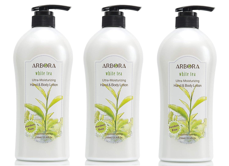 ARBORA Hand Body Lotion WHITE TEA 750ML Super popular specialty store Na Super popular specialty store Paraben 25.4OZ Free