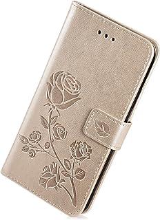 Built-in Ranuras de Tarjeta Bear Village/® Magn/ético Funda de Cuero PU y TPU Flexible Funda Galaxy S9 Plus Anti-Choques Funda para Samsung Galaxy S9 Plus #1 Oro