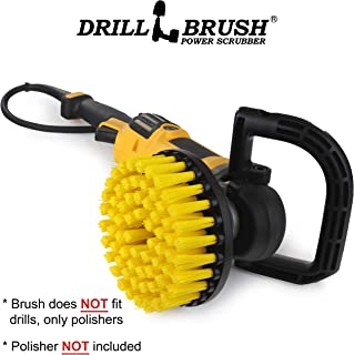 Rotary Polisher Brush – Nylon Bristle for Bathroom Cleaning – Floor Scrubber – Tile and Grout Cleaner - Boat Anti Skid - Cleaner Fits Variable Speed Polisher - 5/8 x 11 Hub fits Car Buffing Machine