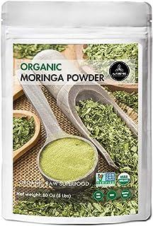 Organic Premium Moringa Powder by Naturevibe Botanicals, 5lbs   Non GMO Verified and Gluten Free   Multi-Vitamin   Great i...