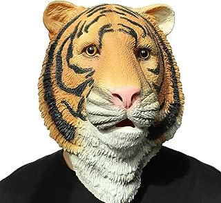 ifkoo Tiger Mask Novelty Halloween Costume Party Latex Animal Head Mask