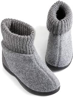 Women's Memory Foam Bootie Slippers, Cozy Winter House Shoes