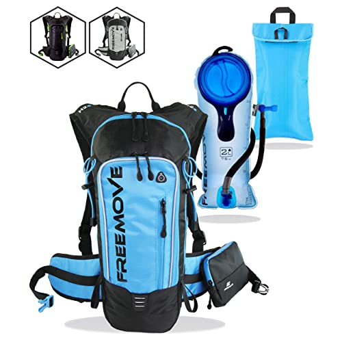 FREEMOVE Hydration Pack - Camel Backpack - 2 Liter Water Bladder - Cooler Bag - External