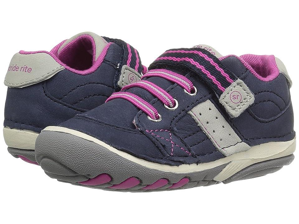 Stride Rite SRT Soft Motion Artie (Infant/Toddler) (Navy/Pink) Girls Shoes