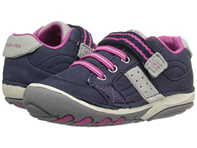 Stride Rite SRT Soft Motion Artie (Infant/Toddler) (Navy/Pink) Girls Shoes