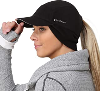 TrailHeads Fleece Ponytail Hat with Drop Down Ear Warmer | The Trailblazer Adventure Hat for Women