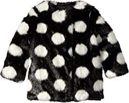 Polka Dot Faux Fur Coat (Toddler/Little Kids)