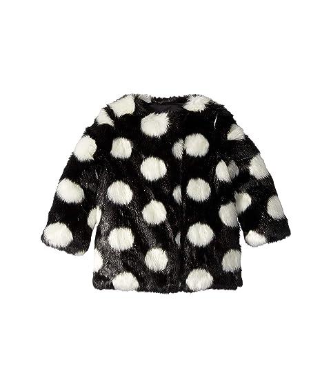 Kate Spade New York Kids Polka Dot Faux Fur Coat (Toddler/Little Kids)