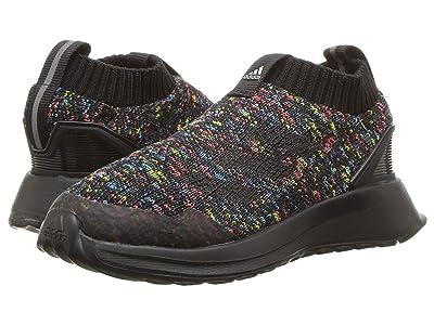 adidas Kids RapidaRun LACELESS KNIT (Toddler) (Core Black/Shock Cyan/Active Red) Girls Shoes