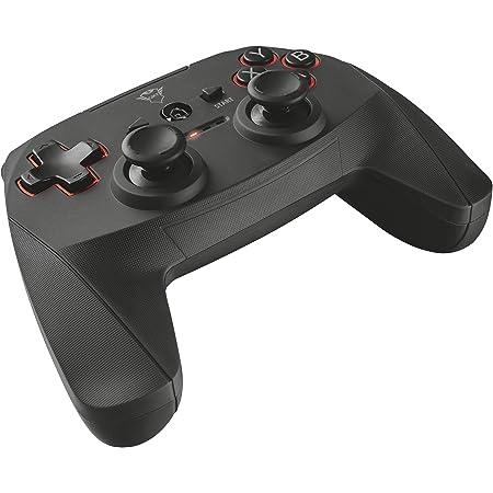 Trust GXT 545 Gamepad Wireless per PC e PS3, Nero