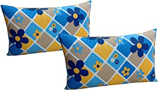 Everwey Enterprise Medium Hard Cotton Printed Pillows 17 x 27 Inches 2 Pillow Set/Pair(Multicolour)